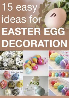 15 easy ideas for Easter egg decoration Hoppy Easter, Easter Eggs, Easter Bunny, Easter Gift, Holiday Crafts, Holiday Recipes, Easter Celebration, Egg Decorating, Easter Treats