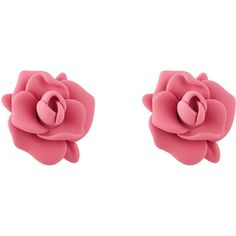 Marc by Marc Jacobs Jerrie Rose Rubber Earrings ($38) ❤ liked on Polyvore
