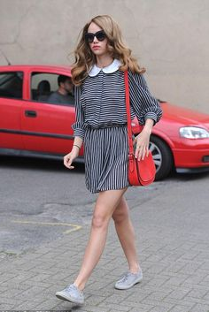 Suki Waterhouse wearing Disney x Coach Saddle Bag