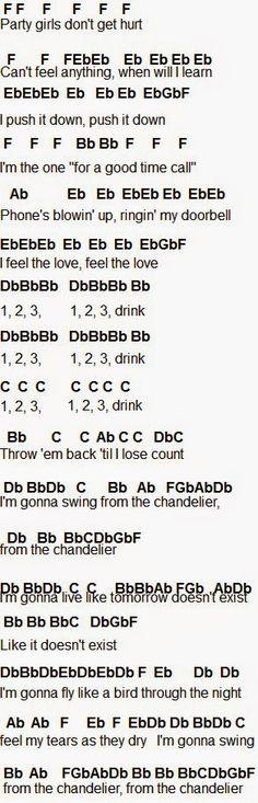 Flute Sheet Music: Chandelier