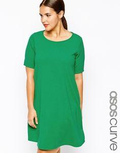 ASOS Curve Exclusive Swing Dress in Texture