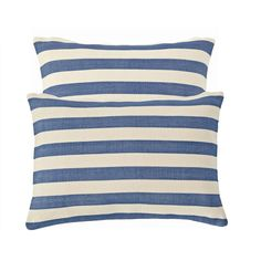 Set sail for high style with our classic nautical-stripe indoor/outdoor pillow in a horde of happy hues.