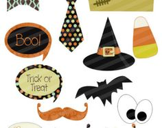 items similar to halloween digital photo props diy printable witch hat frankenstein mustaches on etsy - Halloween Photography Props
