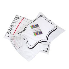 Doodle pillowcase you can draw on. Washes completely clean. When I have kids they're getting this.