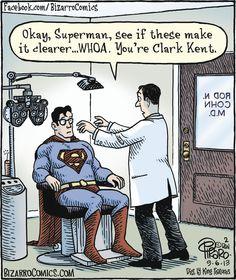 Bizarro cartoon (September 6, 2013) Superman/Clark Kent