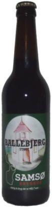 Ballebjerg Stout er en undergæret øl som er brygget på økologisk pilsner/karamel/farvemalt humle og lakrids, den har en let røget eftersmag med toner af lakrids.