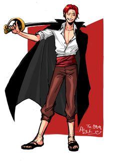 2015 원피스 샹크스 Es Der Clown, One Peace, Pony, Anime, Fictional Characters, Shank, Gate, Style, Character
