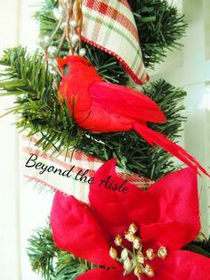 beyond the aisle: DIY Cardinal Christmas Wreath