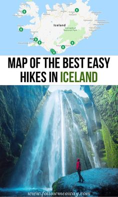 Best Easy Hikes In Iceland That Will Blow Your Mind map of the best hikes in iceland iceland travel tips best things to do in iceland hiking i Tours In Iceland, Iceland Travel Tips, Iceland Road Trip, Iceland Hikes, Reykjavik Iceland, Fly To Iceland, Map Of Iceland, Iceland Trekking, National Parks