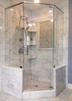 Enticing Corner shower remodel diy,Very small shower remodel tips and Master shower remodeling before and after. Bathroom Renos, Bathroom Layout, Modern Bathroom Design, Bathroom Interior Design, Bathroom Renovations, Home Remodeling, Bathroom Ideas, Vanity Bathroom, Shower Ideas Bathroom