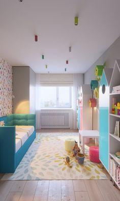 Cum să amenajezi inteligent o cameră de copil mică şi îngustă   CasaMea