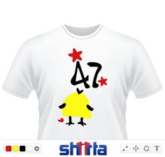 Cute unique little yellow bird saying Numbers  47  txt cute romantic red hearts stars vector graphic illustration animation line art