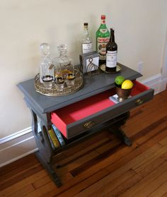 Antique Painted Library Table, Bed Side Table, Bar Table.