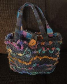 wool and yarn purse  by Jane Doppke