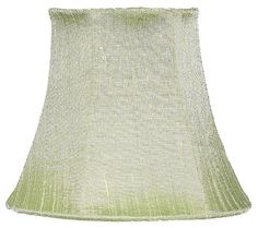 Traditional Shape Chandelier or Sconce Clip-On Silk Shade, Modern Green