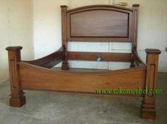 Tempat Tidur Minimalis Modern Bahan Kayu Jati Produksi Perajin Mebel Jepara