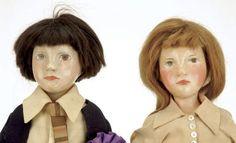 Lot:221: Pair of Rare English Pomona Art Dolls, Lot Number:221, Starting…