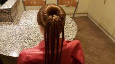 Saç Modeli 14 (#3) - Basit örgülü topuz modeli, Easy braided bun hairsty...