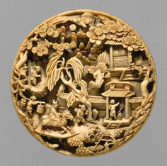 Gorgeous incredibly intricately carved netsuke.