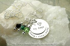 I Heart My 3 Boys Hand Stamped Necklace by beadcreationsintl, $82.95