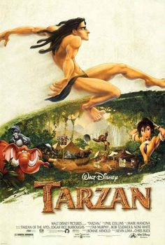 Proof that Tarzan is one of the best Disney movie. Tarzan is an underrated Disney movie. It's got a nice story, the visuals are gorgeous, and the soundtrack is Phil Collins. Childhood Movies, Kid Movies, Family Movies, Cartoon Movies, Great Movies, Indie Movies, Comedy Movies, Disney Films, Disney Movie Posters
