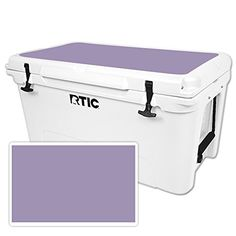 MightySkins Protective Vinyl Skin Decal for RTIC 65 Cooler Lid wrap cover sticker skins Solid Lavender *** More info could be found at the image url.-It is an affiliate link to Amazon. #CampKitchenEquipment