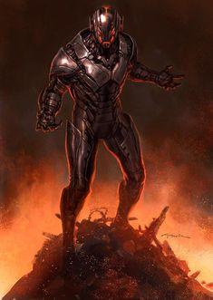 Avengers Age of Ultron Andy Park Concept Art 5 Avengers: Age of Ultron Concept Art Reveals Alternate Ultron Designs Age Of Ultron, Ultron Marvel, Marvel Villains, Marvel Comics Art, Marvel Fan, Marvel Characters, Marvel Concept Art, Concept Art World, Comic Books Art