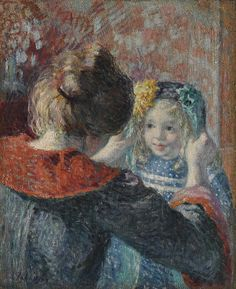 c.1898-1899 Madame Lebasque and her daughter Marthe by Henri Lebasque