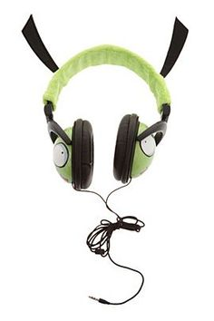 Invader Zim Gir Plush Headphones - I want these to hook up to my keyboard!