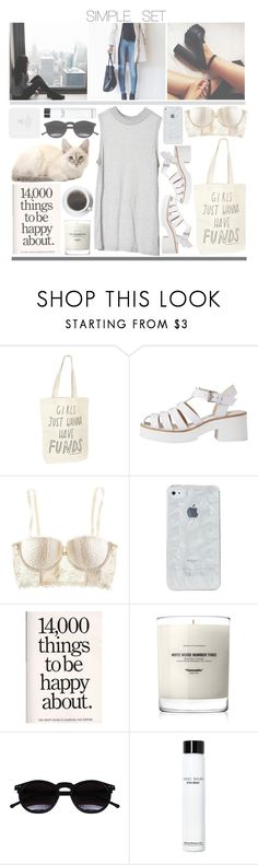 """simple set"" by karoliiii ❤ liked on Polyvore featuring xO Design, Talented Totes, Cheap Monday, Lily White, H&M, Baxter of California, Chicnova Fashion and Bobbi Brown Cosmetics"