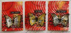 Käsitöitä flamencohame hulmuten - Siiri Viljanen ATC Atc, Butterfly, Artist, Cards, Painting, Inspiration, Biblical Inspiration, Painting Art, Paintings