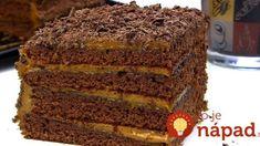 Jednoduchý čokoládový koláč s dokonalou chuťou: Lepší ste ešte nejedli! Russian Desserts, Russian Recipes, Chocolate Chip Cookies, Sweet Recipes, Cake Recipes, 4 Ingredients, Banana Bread, Good Food, Food And Drink