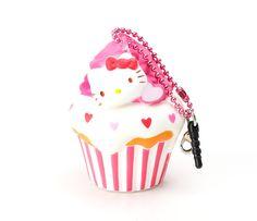 Hello Kitty Squishy: Mini Vanilla Cupcake with Strawberry Icing