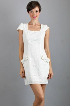 Voom by Joy Han Suzette Cap Sleeve Dress in White. Love this simple white dress.
