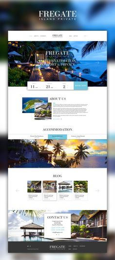hotel publicidad 20 web design inspiration for the modern website template featuring beautiful full-width photos, dynamic click-through lists, and a subtle bohemian vibe. Everything about this design can be changed in this website design inspiration Hotel Website Design, Travel Website Design, Best Website Design, Travel Design, Layout Design, Layout Web, Website Layout, Design Design, Website Ideas