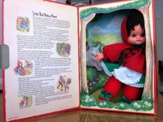 RARE BURBANK LITTLE RED RIDING HOOD DOLL 1970'S 5+5