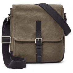 f7cf6bab34 Sac besace Fossil Olive DAVIS Toile et Cuir - Sacs Homme Sacoche Homme  Cuir, Couture
