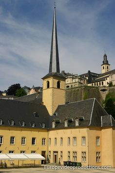 Abbey of Neumünster cultural centre in Grund in City of Luxembourg.