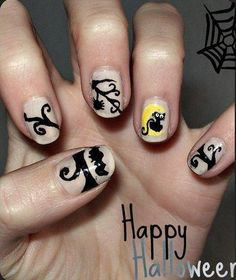 DIY halloween nails: DIY Halloween nail art : Halloween Nail Art