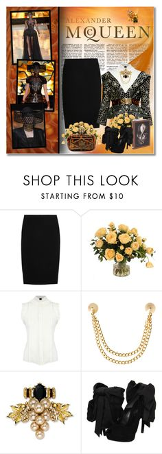 """Alexander McQueen Summer-Spring 2013"" by redflowergirl ❤ liked on Polyvore featuring Alexander McQueen, Distinctive Designs, McQ by Alexander McQueen, ASOS and Mawi"