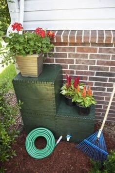 "Build your own shaped Rain Barrel and once built, can be left outside all year WITHOUT draining in the frigid winter months! Build a box or a raised garden with the water ""UNDER"" it!  Self maintenance diverter, NO over-flow, Mosquitos, Algae, or Leaves & Debris! All MADE IN THE USA using compostable, recycled and food-grade materials!!!!"