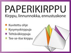 kysymyssarja Archives - RyhmäRenki Hobbies And Crafts, Diy And Crafts, Activity Games, Activities, Origami, Occupational Therapy, Tandem, School Fun, Kids And Parenting