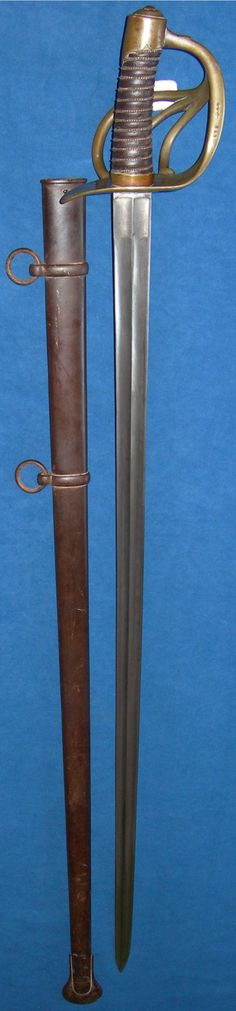 Battle of Waterloo trophy, French Heavy Cavalry Trooper's Sword, Klingenthal, dated 1813