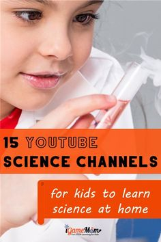 Fun YouTube science channels for kids learn science at home. Free STEM resources for science class and homeschool. Science Videos For Kids, Elementary Science Experiments, Science Projects For Kids, Stem Science, Science Lessons, Learn Science, Kid Science, Learning Websites, Learning Resources