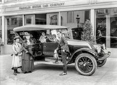"""San Francisco circa 1920. """"Franklin auto at Franklin Motor Car Co."""" by Christopher Helin. Shorpy Historic Picture Archive"""