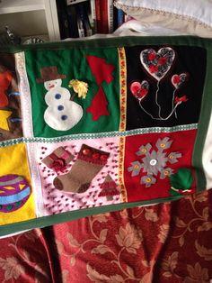Coperta di Natale con decorazioni in feltro