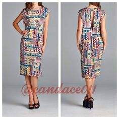 """✨COMING SOON!✨ Tribal Print Midi Dress More details coming soon! I will lower the price once this item arrives. """"Like"""" to be notified of its arrival. CC Boutique  Dresses Midi"""