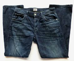 Mens Size 32x32 HUDSON Dark Wash Classic Straight Leg Relaxed Fit Jeans EUC. $39.99