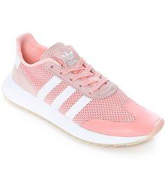 uk availability 29874 63247 Adidas Women s Flashback Pink Coral Haze White Sneaker BA7759 Size 6 NWB  85