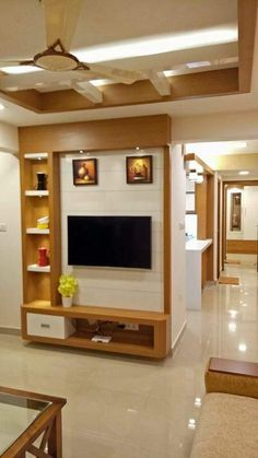 tv rack Tv Wall Design, Tv Unit Design, Lcd Units, Tv Cabinets, Tv Cupboard, Cupboard Design, Modern Tv Cabinet, Modern Tv Wall Units, Pooja Rooms